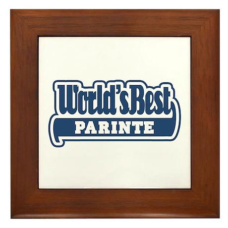 WB Dad [Romanian] Framed Tile
