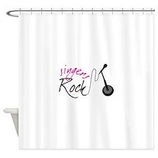 singers Rock Shower Curtain
