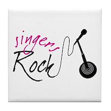 singers Rock Tile Coaster
