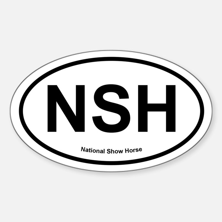 NSH National Show Horse oval Decal
