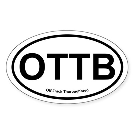 OTTB Off Track Thoroughbred oval Sticker