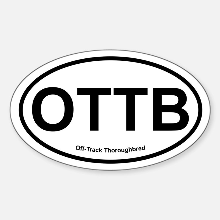 OTTB Off Track Thoroughbred oval Decal