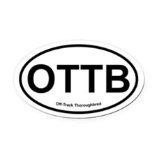 OTTB Off Track Thoroughbred oval Oval Car Magnet