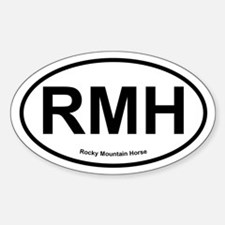 RMH Rocky Mountain Horse oval Decal