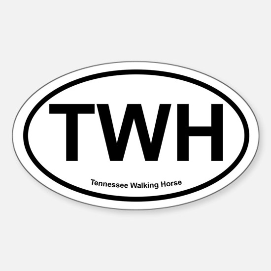 TWH Tennesee Walking Horse oval Decal