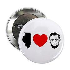 IL Loves Lincoln - Button