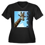 Safari Women's Plus Size V-Neck Dark T-Shirt