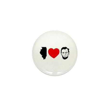 IL Loves Lincoln - Mini Button