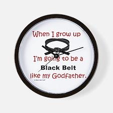 Cute Taekwondo black belt Wall Clock