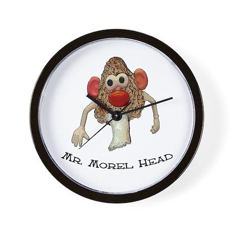 Mr. morel head morel hunting Wall Clock