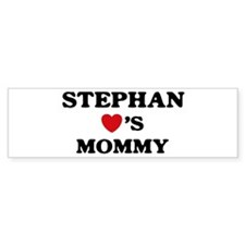 Stephan loves mommy Bumper Bumper Sticker