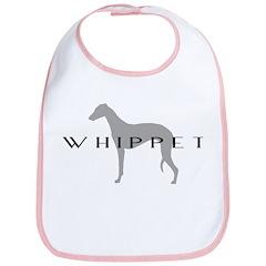 Grey Whippet Dog Bib