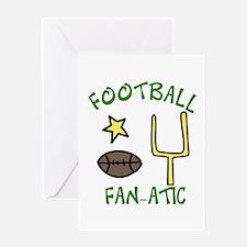 FOOTBALL FAN-ATIC Greeting Cards