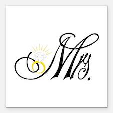 "Mrs. Square Car Magnet 3"" x 3"""