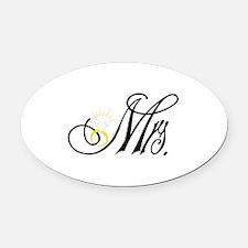 Mrs. Oval Car Magnet