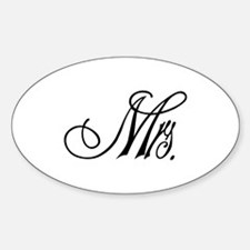 Mrs. Script Decal
