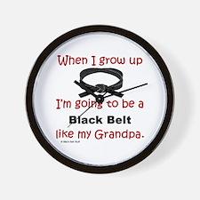 Funny Karate kids Wall Clock