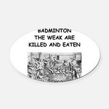 BAD2 Oval Car Magnet