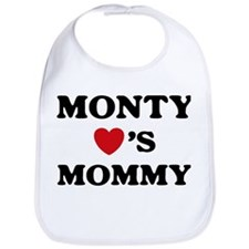Monty loves mommy Bib