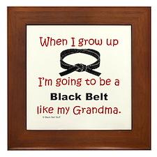 Unique Black belt Framed Tile
