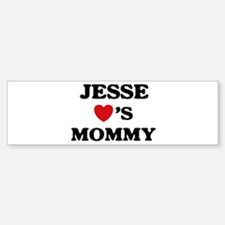 Jesse loves mommy Bumper Bumper Bumper Sticker