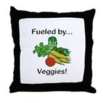 Fueled by Veggies Throw Pillow