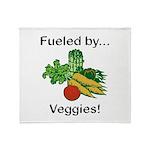 Fueled by Veggies Throw Blanket