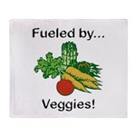 Fueled by Veggies Throw Blanket