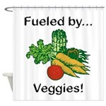Fueled by Veggies Shower Curtain