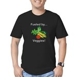 Fueled by Veggies Men's Fitted T-Shirt (dark)