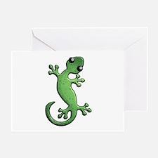 Green Rain Greeting Card