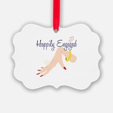 Happily Engaged Ornament