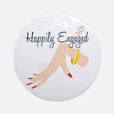 Happily Engaged Ornament (Round)