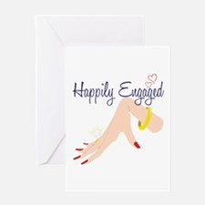 Happily Engaged Greeting Cards