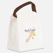 Happily Engaged Canvas Lunch Bag