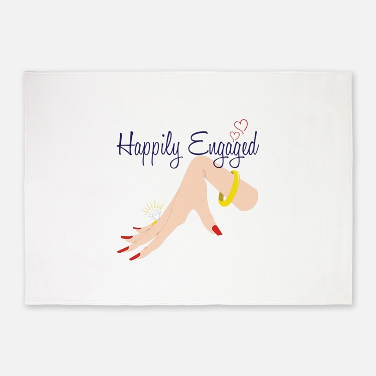 Happily Engaged 5'x7'Area Rug
