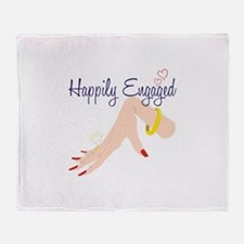 Happily Engaged Throw Blanket