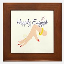 Happily Engaged Framed Tile