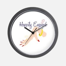 Happily Engaged Wall Clock