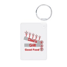 Dad's Grill Keychains
