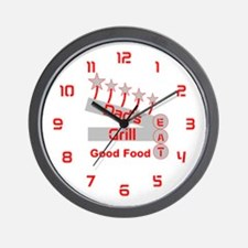 Dad's Grill Wall Clock