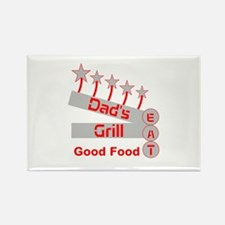 Dad's Grill Rectangle Magnet