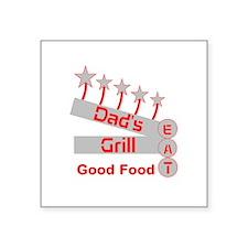 """Dad's Grill Square Sticker 3"""" x 3"""""""