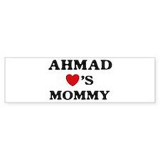 Ahmad loves mommy Bumper Bumper Sticker