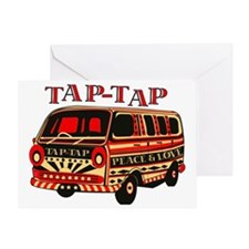 tap tap1 RED COMBO_2 Greeting Card