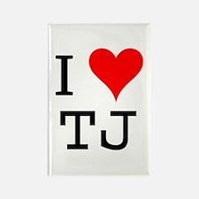 I Love TJ Rectangle Magnet