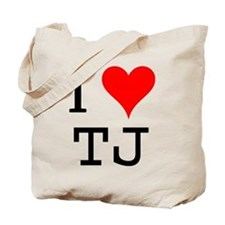I Love TJ Tote Bag