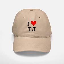 I Love TJ Baseball Baseball Cap