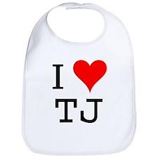 I Love TJ Bib