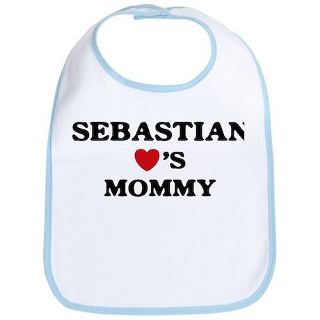 Sebastian loves mommy Bib